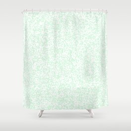 Tiny Spots - White and Pastel Green Shower Curtain