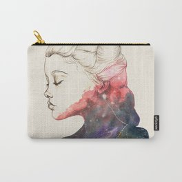 Supernova Girl Watercolor Carry-All Pouch