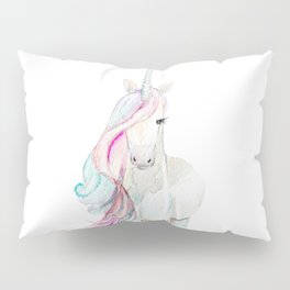 Watercolor Unicorn Pillow Sham