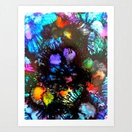Colourful Sea Urchins Art Print