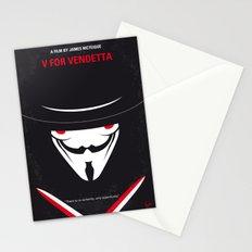 No319 My V for minimal movie poster Stationery Cards