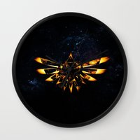 targaryen Wall Clocks featuring Zelda Triforce Red Flame by aleha