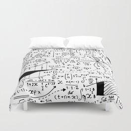 Hand Written Math Equation Duvet Cover