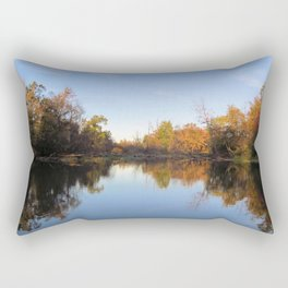 Autumn on the River Rectangular Pillow