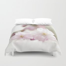 Delicate and fliligrane flowering of the almond tree Duvet Cover