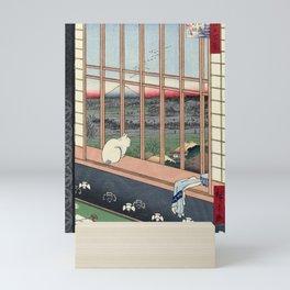 Utagawa Hiroshige Japanese Woodblock Cat Print Mini Art Print