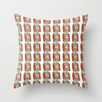 popeye Throw Pillows featuring Popeye Smokes 2.0 by Snack Paintings