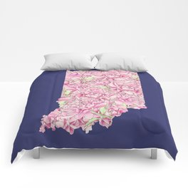 Indiana in Flowers Comforters
