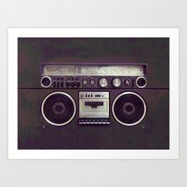 Retro Boombox Art Print