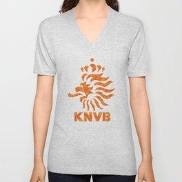KNVB Football Crest Unisex V-Neck