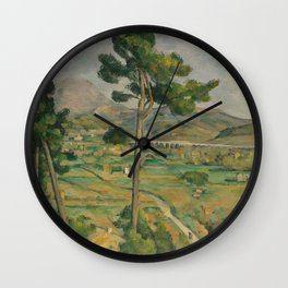 Mont Sainte-Victoire and the Viaduct of the Arc River Valley Wall Clock
