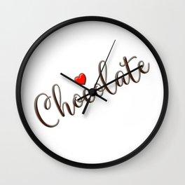 Chocolate Love Wall Clock