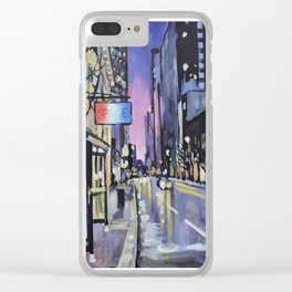 Evening Lights of the Burgh Clear iPhone Case