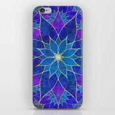 Lotus 2 - blue and purple iPhone & iPod Skin