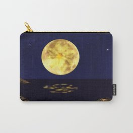 Yellow Dahlia Moon Carry-All Pouch