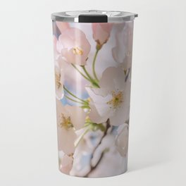 White Spring Cherry Trees Blossom Travel Mug