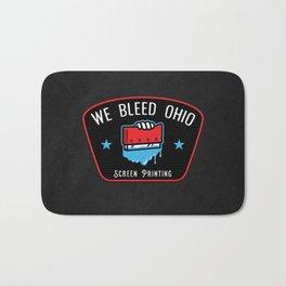 We Bleed Ohio Screen Printing Squeegee Bath Mat