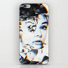 Audrey Hepburn Glitch iPhone Skin
