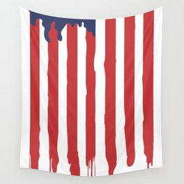 Bleeding American Flag of a US Patriot Wall Tapestry