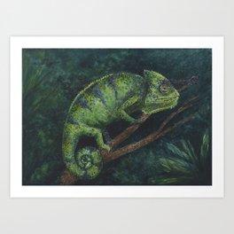 Camaleón Art Print