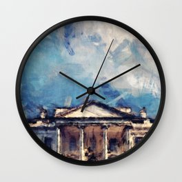 White House On A Sunny Day Wall Clock