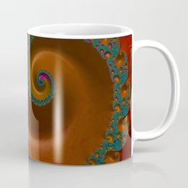 Turquoise and Orange Swirl Coffee Mug