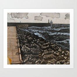 South Beach, Aberystwyth Art Print