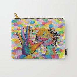 ASL for MOTHER on a Bright Bubble Background Carry-All Pouch