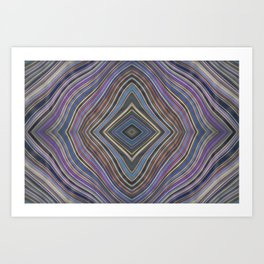 Wild Wavy Diamonds 34 Art Print