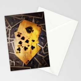 Dead Man's Hand Stationery Cards