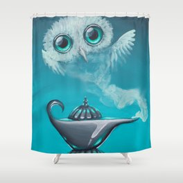 genie owl Shower Curtain