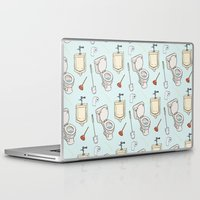 bathroom Laptop & iPad Skins featuring Bathroom Pattern by Josh LaFayette