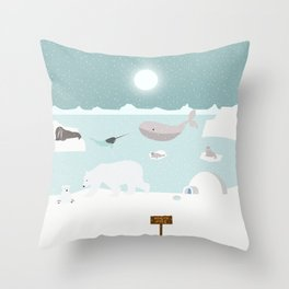 North pole Throw Pillow