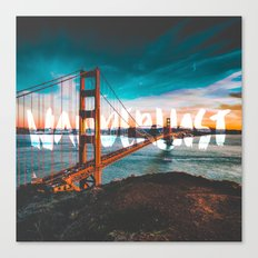 WANDERLUST - wall tapestry - travel - water - sky - landscape nature photography tapestries love Canvas Print
