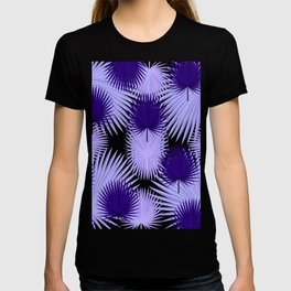 PALM LEAF ABSTRACT PATTERN ULTRA VIOLET T-shirt