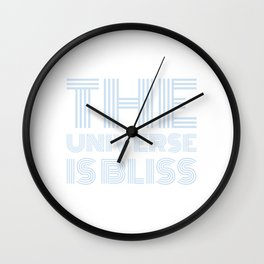 The Universe is Bliss (blue) Wall Clock