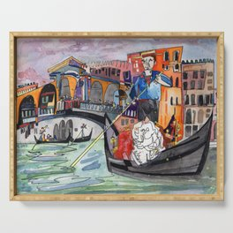 Lovers in Venice Serving Tray
