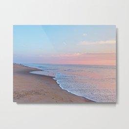Pink ocean sunrise - minimalist landscape photography | Rehoboth Beach, DE Metal Print