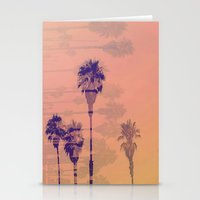santa monica Stationery Cards featuring Santa Monica Palms by Nina May Designs