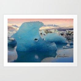Ice sculpture Art Print