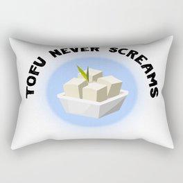 Tofu Never Screams Rectangular Pillow
