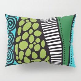 Green Dive -Plongeon vers-textures Pillow Sham