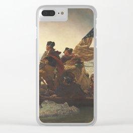 Emanuel Leutze - Washington Crossing The Delaware Clear iPhone Case