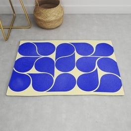 Blue mid-century shapes no8 Rug