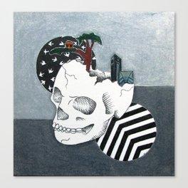 album skull Canvas Print