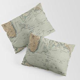 Vintage Map of Charleston SC Harbor (1904) Pillow Sham