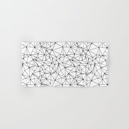 Mosaic Triangles Repeat Seamless Pattern Black and White Hand & Bath Towel