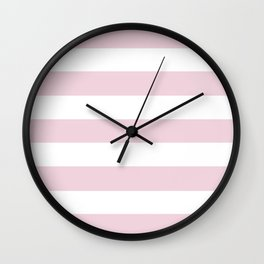 Pink Diamond (Independent Retailers Colors) - solid color - white stripes pattern Wall Clock