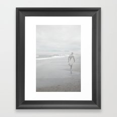 Surfer Ghost ~ pale blue gray version Framed Art Print