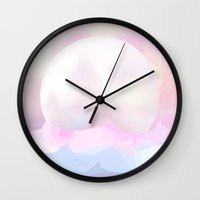 moonrise Wall Clocks featuring Moonrise by Okti